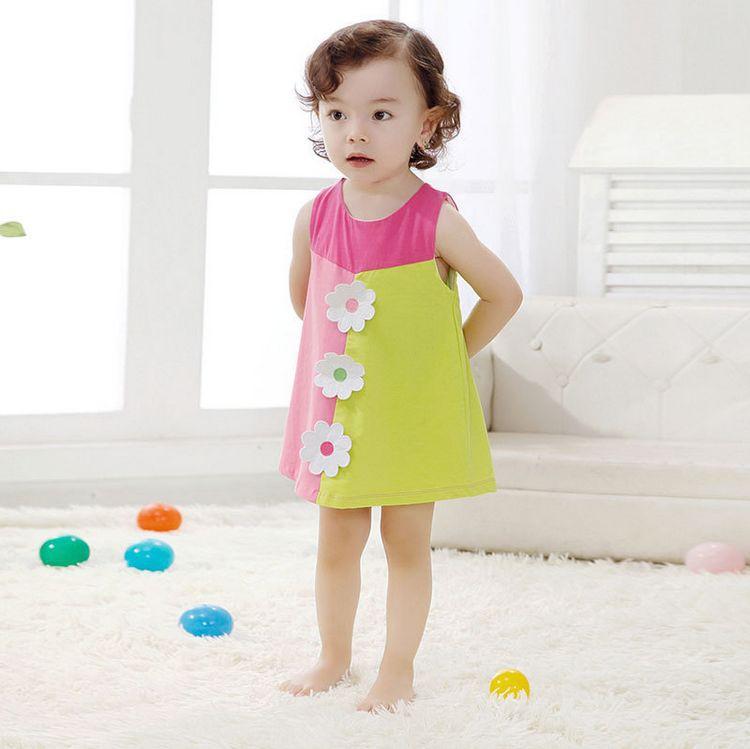 edd385cc8 Vestido de niña de Verano 2015 nueva marca bebé Niñas vestido niños ropa  vestidos niños vestido princesa partido Vestidos para Niñas