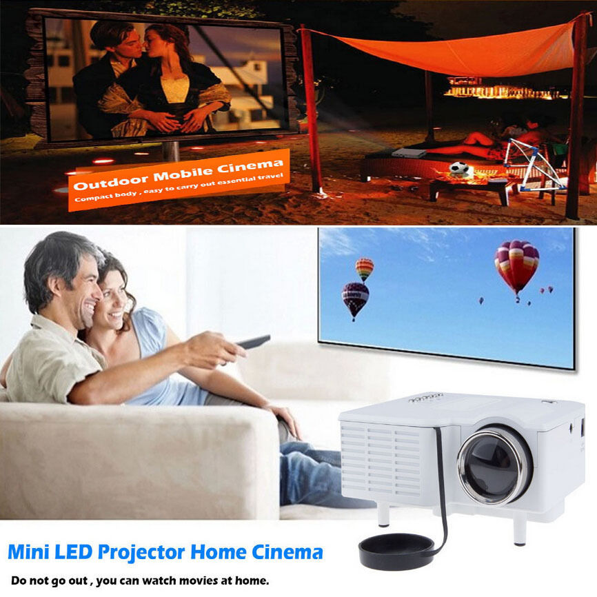 uc28+ portable mini projector hd 1080p home multimedia led mini theater projector