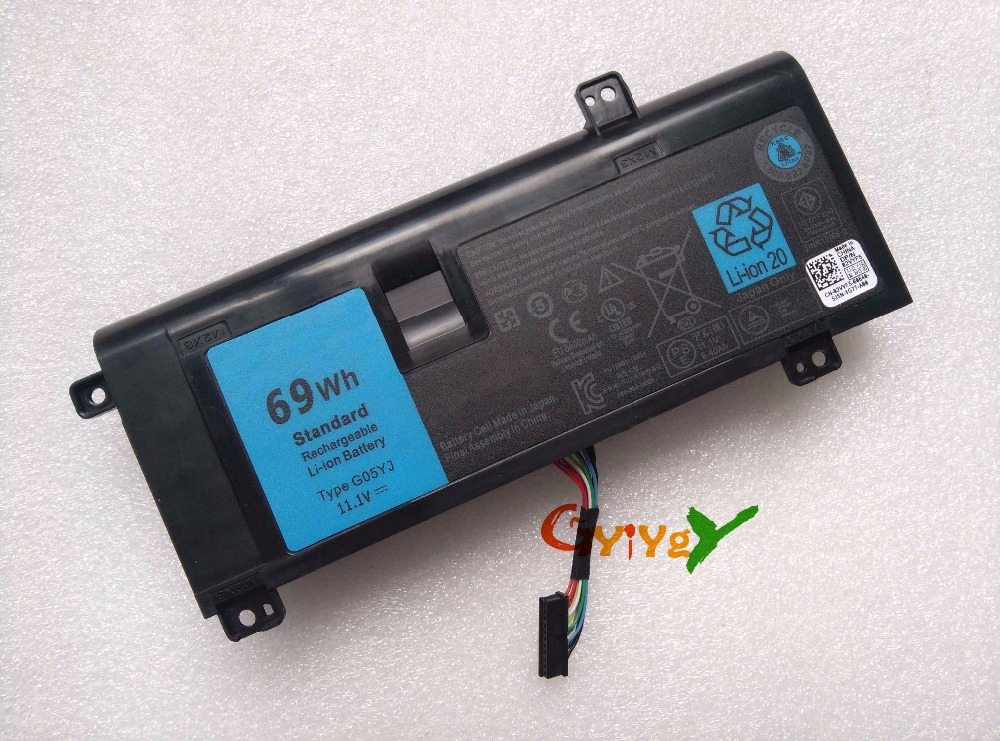 69wh G05yj Laptop Battery For Dell Alienware 14 A14 M14x R3 R4 Alw14d Y3pn0 8x70t 0g05yj