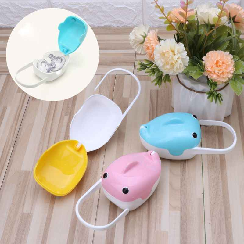 Cute Whale Portable Baby Infant Kids Pacifier Nipple Cradle Case Holder Travel Storage Box