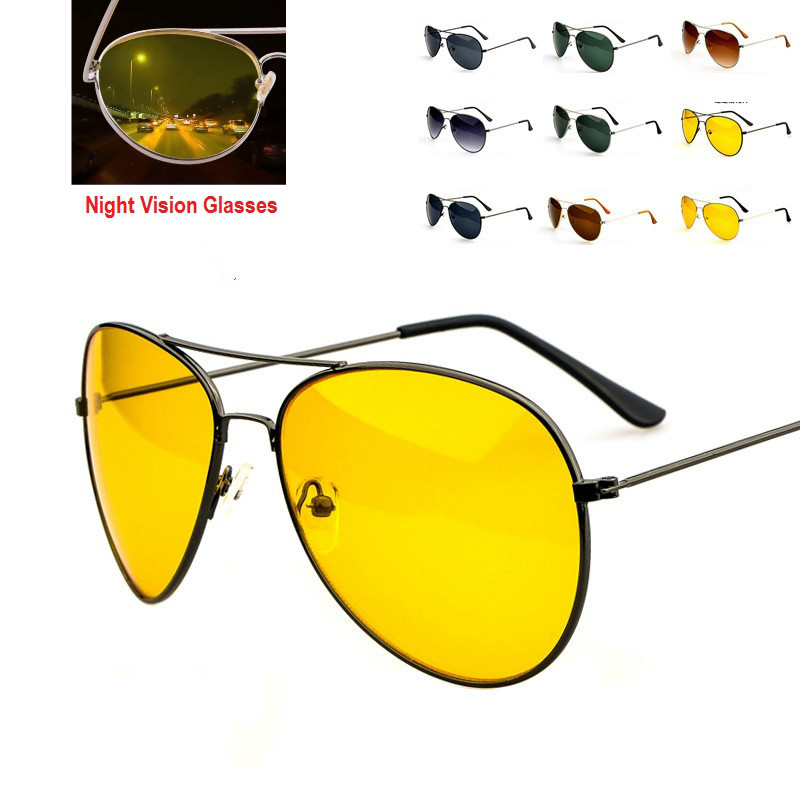 48bd59a86f909b Pilot Night Vision glasses Driving Yellow Lens Classic Anti Glare Vision  Driver Safety glasses For Women