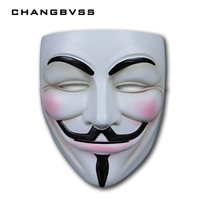 De V voor Vendetta Party Cosplay masque Masker Anoniem Guy Fawkes Fancy Dress Volwassen Kostuum Accessoire macka mascara halloween