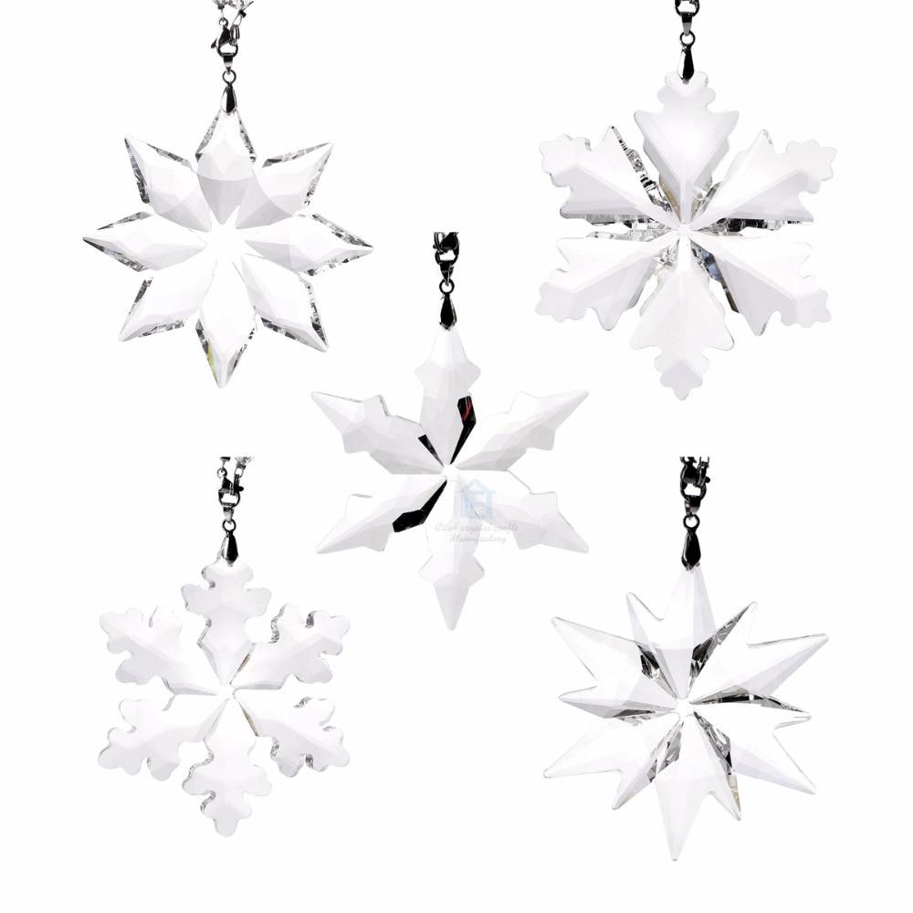 1pcs New Glass AB Star Pendant ornament Charms Pendant  X/'mas Party Decortion