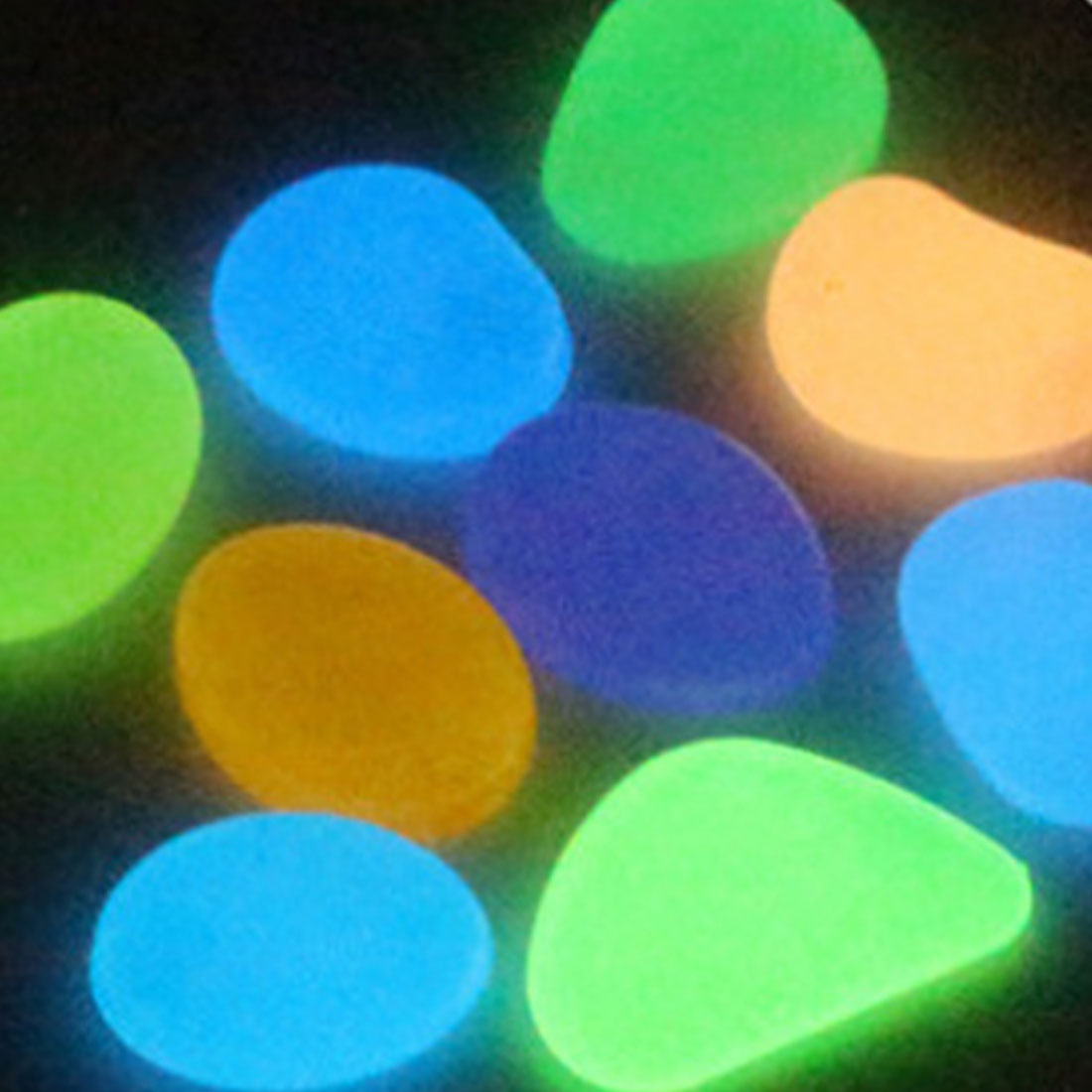 10Pcs Color Random Luminous Glowing Artificial Stone Aquarium Fish Tank Bonsai Garden Decor Glow In The Dark Pebbles Stones