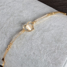 Cat's Eye Heart Bracelet