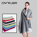 Fashion 2016 Women Scarf Vintage Ladies Solid Color Black Red White Scarves Warp  Female Cashmere Winter Warm Long Scarf Shawl