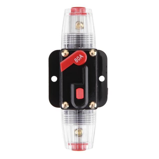 Best Price VODOOL 80A 8GA/10GA Gauge Circuit Breaker Car Audio Amplifier In-line Fuse Holder Block For Car Power Amplifier or Subwoofer