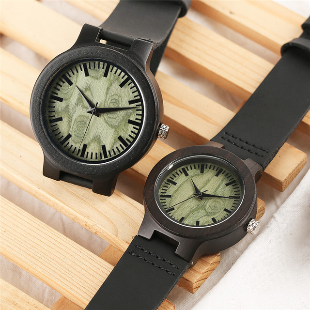 Wooden Lover Quartz Watches Woman Man Genuine Leather Band Couple Watch Anniversary Gifts 3