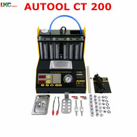 AUTOOL Top Rate CT200 gasonline 6/4 cylinder Car Motorcycle Auto Ultrasonic Injector Cleaning Tester machine 220/110V 2 options