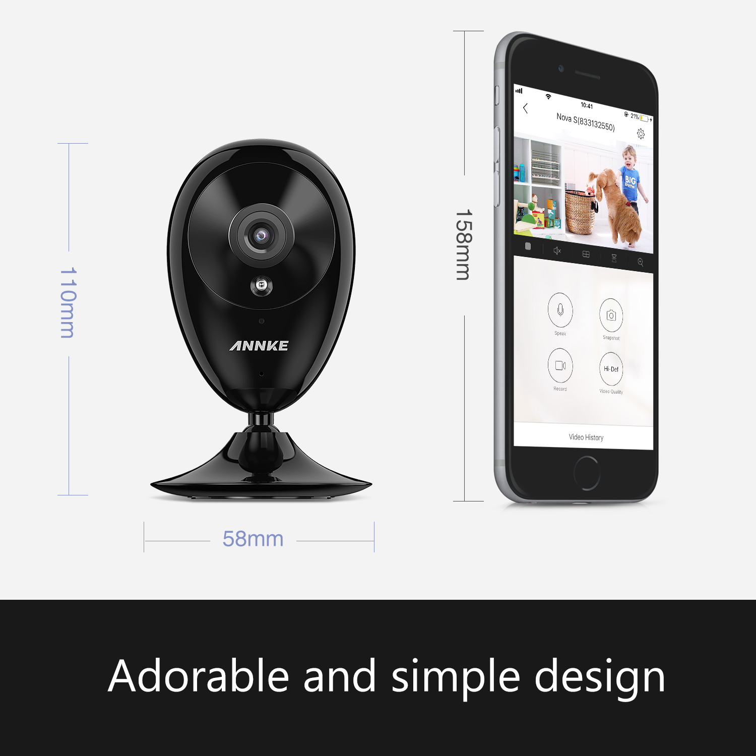 Annke New Nova S 2 0MP 1080P Smart WiFi IP Camera Network Night Vision CCTV  Camera Remote Motion Detect Security for Alexa IFTTT-in Surveillance