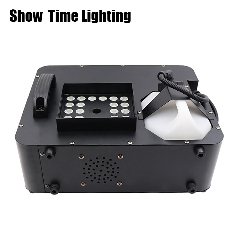 Show Time 1500W Led Fog Machine Remote Control Can Vertical Place Smoke Machine RGB Led Disco DJ Party Make Fog Home Entertain
