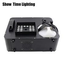 Show Time 1500W Led fog machine remote control can vertical place smoke machine RGB led disco DJ party make fog home entertain