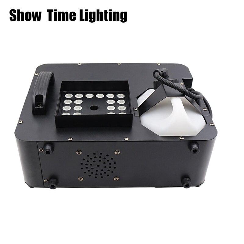 Show Time 1500W Led machine à brouillard télécommande peut placer vertical machine à fumée rvb led disco DJ partie faire brouillard maison divertir
