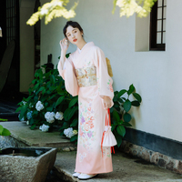 Luxury Japanese traditional Element kimono take photo dress cosplay female yukata women haori Japan geisha costume obi kimonos