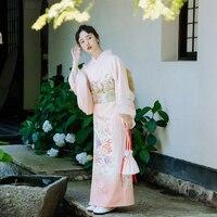 Luxury Japanese traditional Element kimono take photo dress cosplay female yukata women haori Japan geisha costume obi kimonos