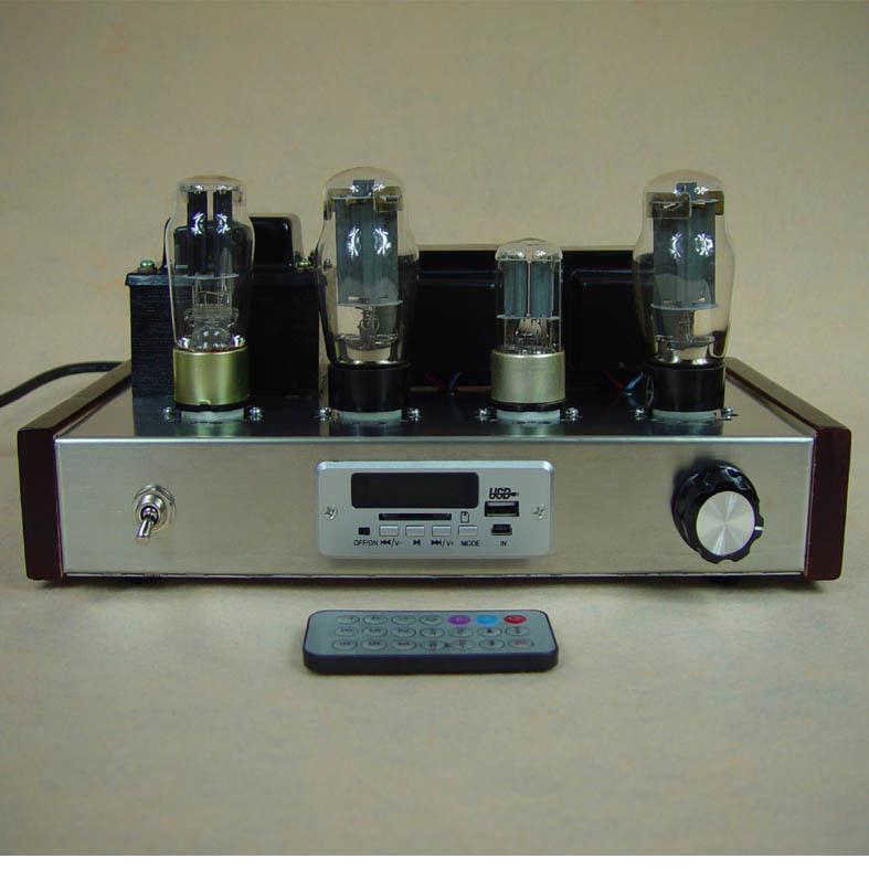 Finished 6N9P+6L6 Tube Amplifier With USB MP3 Decoder Vacuum Tube Amp fanmusic 6p1 usb decoder tube amplifier