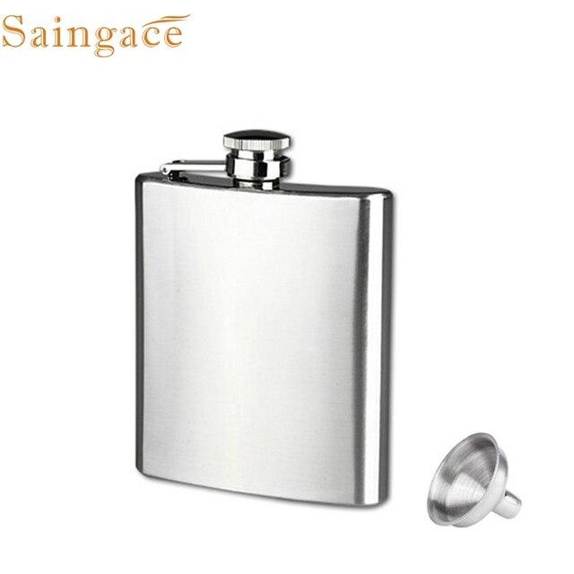 Zero 7oz Stainless Steel Pocket Hip Flask Alcohol Whiskey Liquor Screw Cap + Funnel