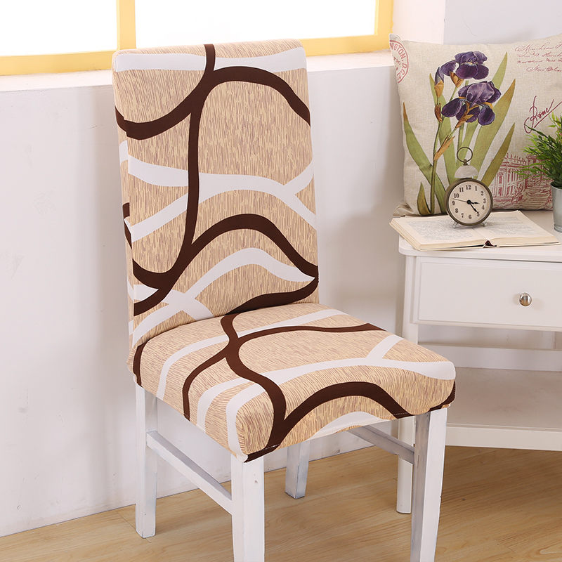 Modern Anti-dirty Chair Covers Spandex Streak Elastic Chair Slipcover for Wedding Dining Chair Protector Home Decor Mother Gifts