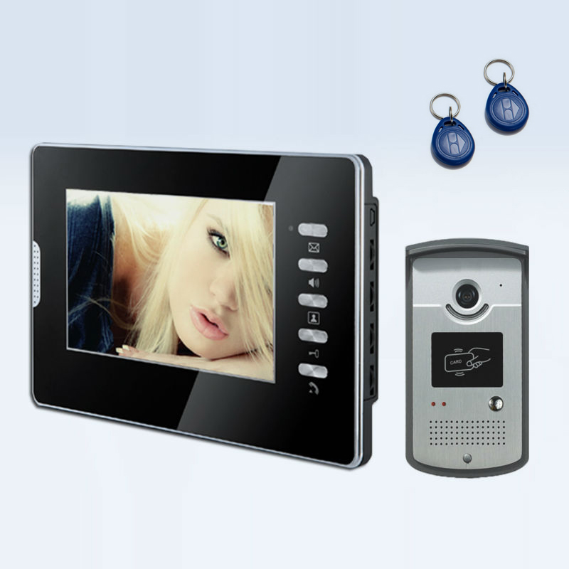 HD 700TVl 7inch Video intercom with ID card open door video door phone system|Video Intercom|Security & Protection - title=