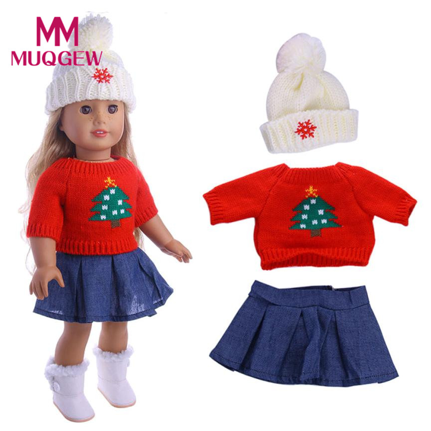 Cute Sweaters Clothes Outfits Dress Skirt For 18 inch Our Generation American Girl Doll baby born doll accessories USPS 2018 двухкамерный холодильник bosch kgn 36 vl 14 r