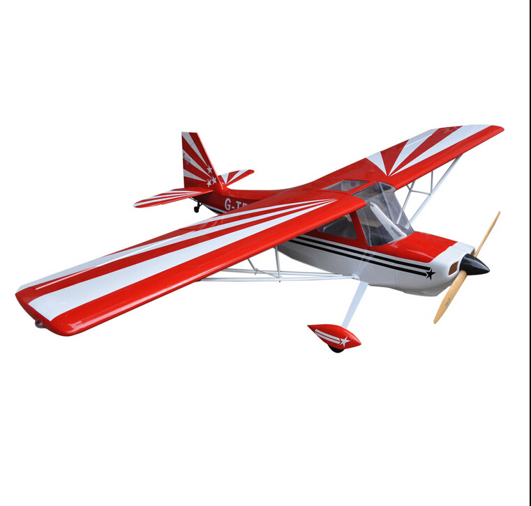 Large Red Super Decathlon 96inch 2438mm 35CC Gas RC Airplane Wood Aircraft ARF Airplane 88 6in wilga fiberglass version 30cc scale airplane gasoline airplane arf red