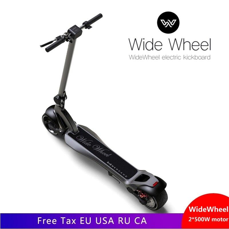 Monopatín eléctrico para Widewheel 500 W Scooters eléctricos de dos ruedas 48 V rueda ancha scooter Doble