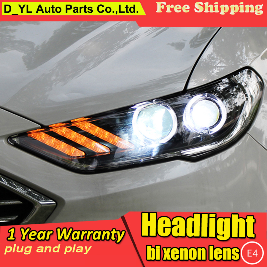 DY L Car Styling For Ford Mondeo 2017 Headlights Fusion LED Headlight DRL Hid Bi Xenon