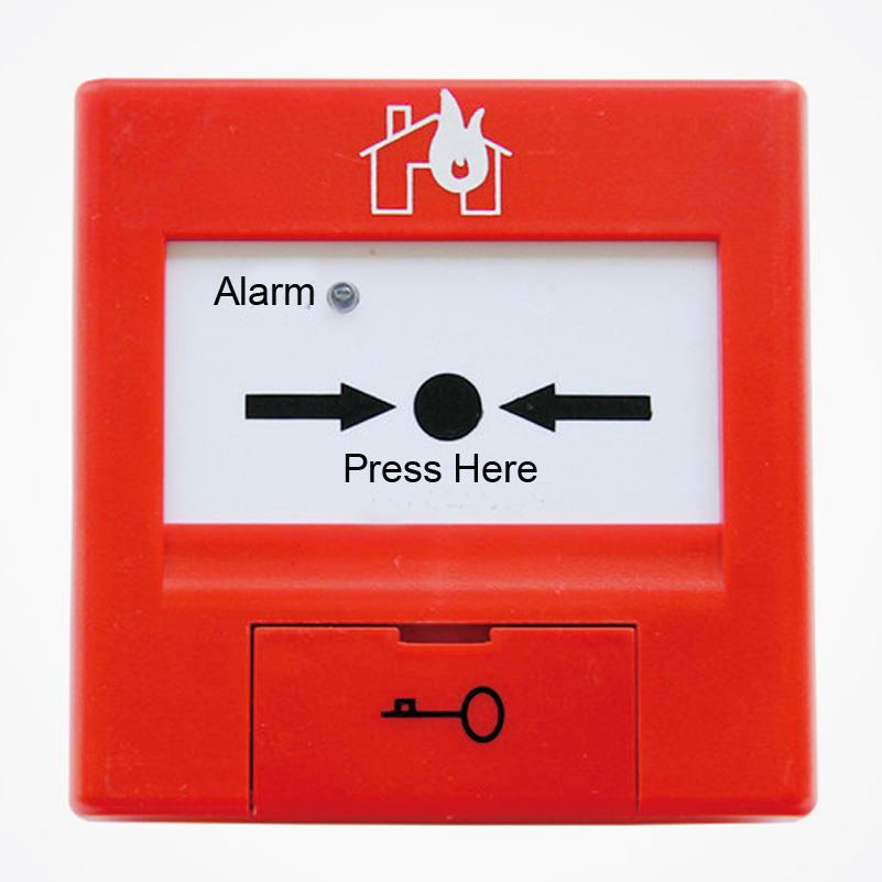 TCSB5204 Manual  button  Intelligent manual call point  for  TCfire alarm system 2 receivers 60 buzzers wireless restaurant buzzer caller table call calling button waiter pager system