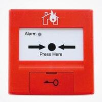 TCSB5214 Manual botão sistema de alarme Inteligente um ponto de chamada manual para TCfire