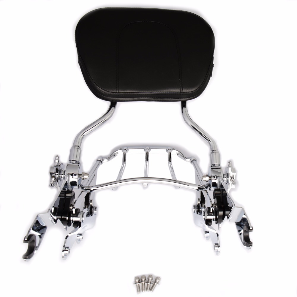 Réglable Dossier Sissy Bar Rack 4 Point D'accueil Kit Harley Touring Street Glide Road King 2014 2015 2016 2017 2018