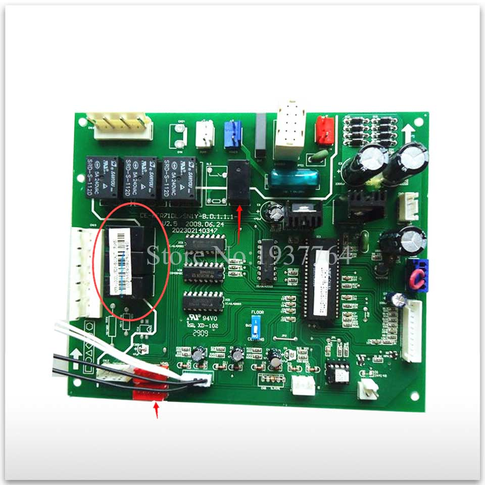 used for Air conditioning computer board circuit board CE-KFR71DL/SN1Y-B.D.1.1.1-1 board good working computer board kfr 32gw kfr 35gw dashboard used disassemble