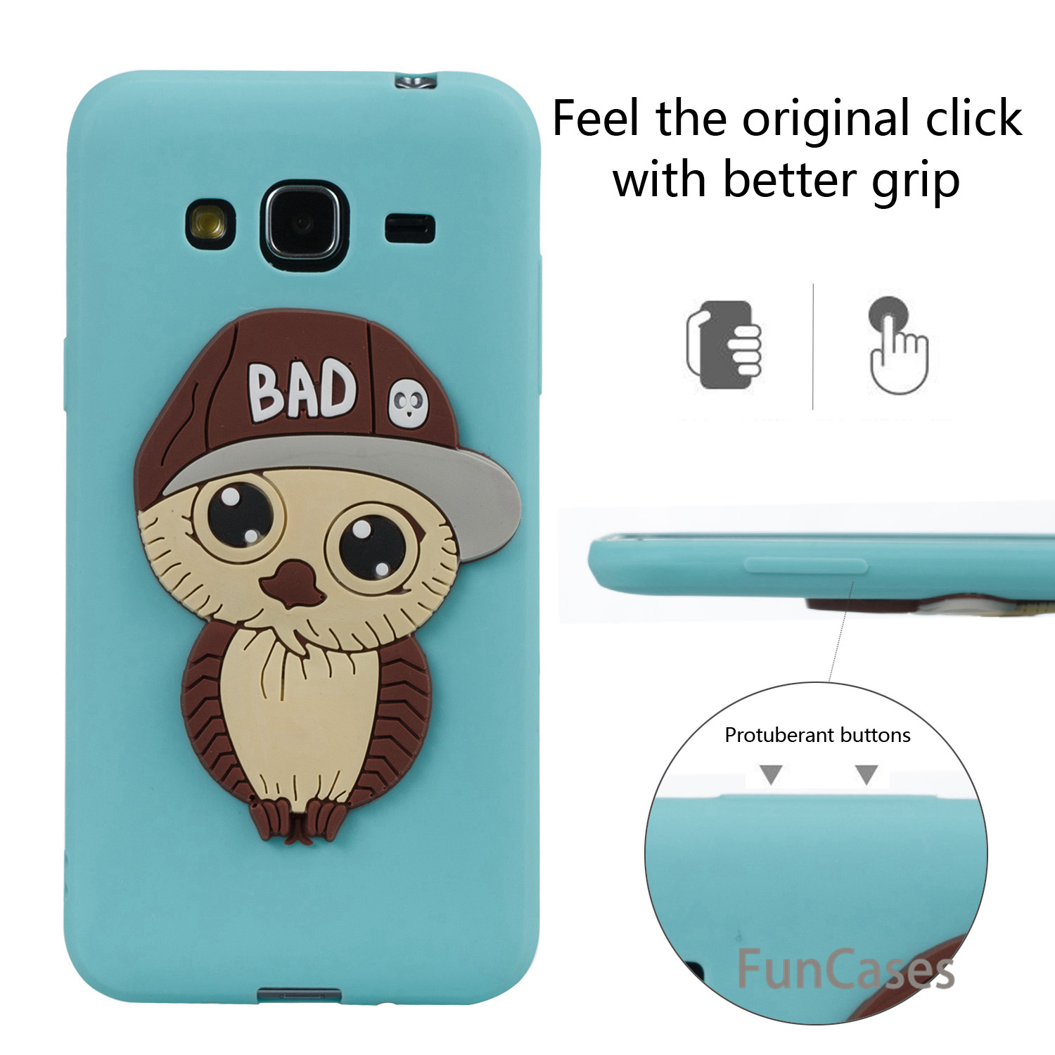 Rubber Owl Case sFor Coque Samsung J3 Soft Silicone Back Cover Capa Vintage Flip Case sFor Samsung Galaxy J310 J3 2016 Rubber