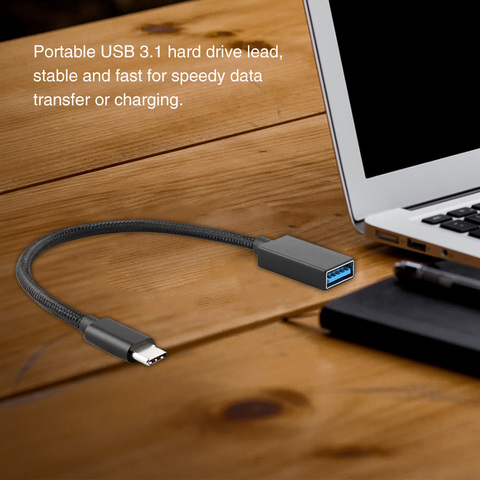 3.1 Type C To AF Portable Accessories Mobile Phone Digital Metal Computer USB Cable Fast Charge Braided Universal Hard Drive Pakistan