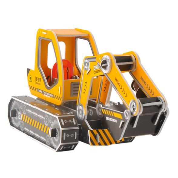 D519  Stereoscopic 3 d jigsaw puzzle new intelligent excavator diy car sales environmental educational classes
