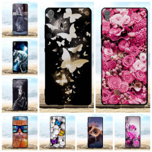 Phone Cases For Cover Sony Xperia XA F3111 F3112 Case Thin Soft Silicone Black Capa For Sony XA F3111 F3112 Case 3D Flower Coque стоимость