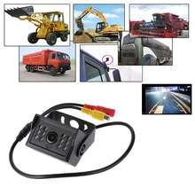 Free delivery Rear view camera truck 24V 12V black bus car rearview IR night vision waterproof camera