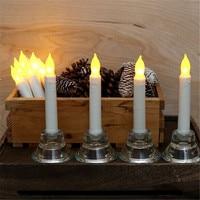 6 ou 12 pieces conduziu o castiçal flameless  luz conduzida da vela da bateria. vela longa conduzida  kaars bondes a pilhas para a janela candle light long candlesbattery led candle -