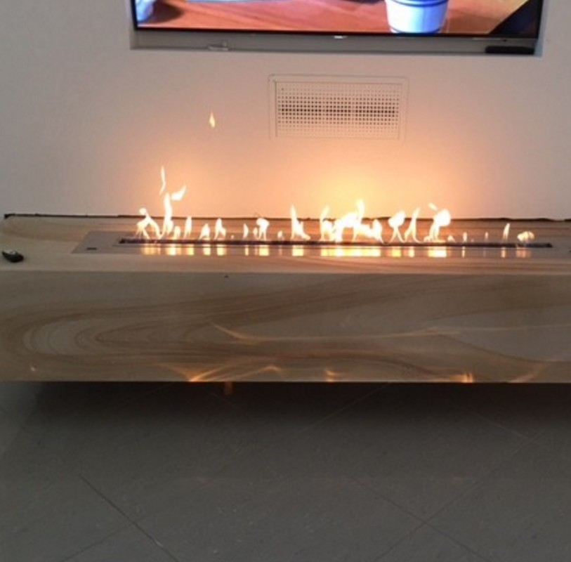 Inno-living 48'' Bio Ethanol Fireplace For Home  Smart Control 12.5L
