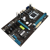 294*170mm B85 BTC Motherboard Systemboard For Inter B85 ATX LGA 1150 Socket 2*DDR3 Mining Motherboard Support 7 Graphics Cards