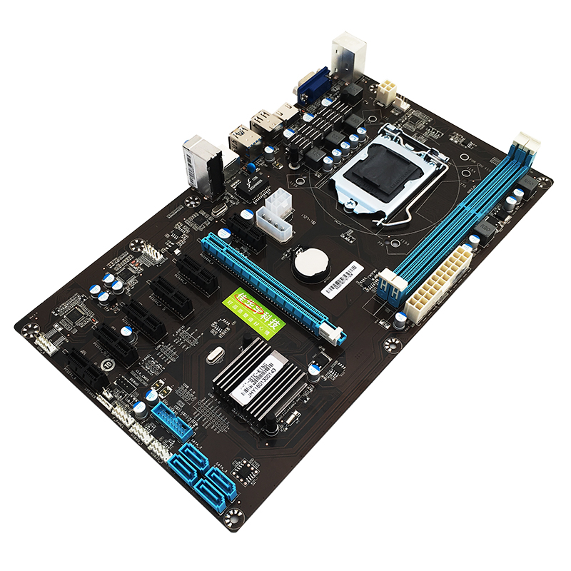 294*170mm B85 BTC carte mère Systemboard pour Inter B85 ATX LGA 1150 Socket 2 * DDR3 Mining carte mère Support 7 cartes graphiques