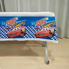 Disney Cars Lighting Mcqueen Birthday Party Supplies TableCloth Disposal Table Cloth Kids Boys children Decoration