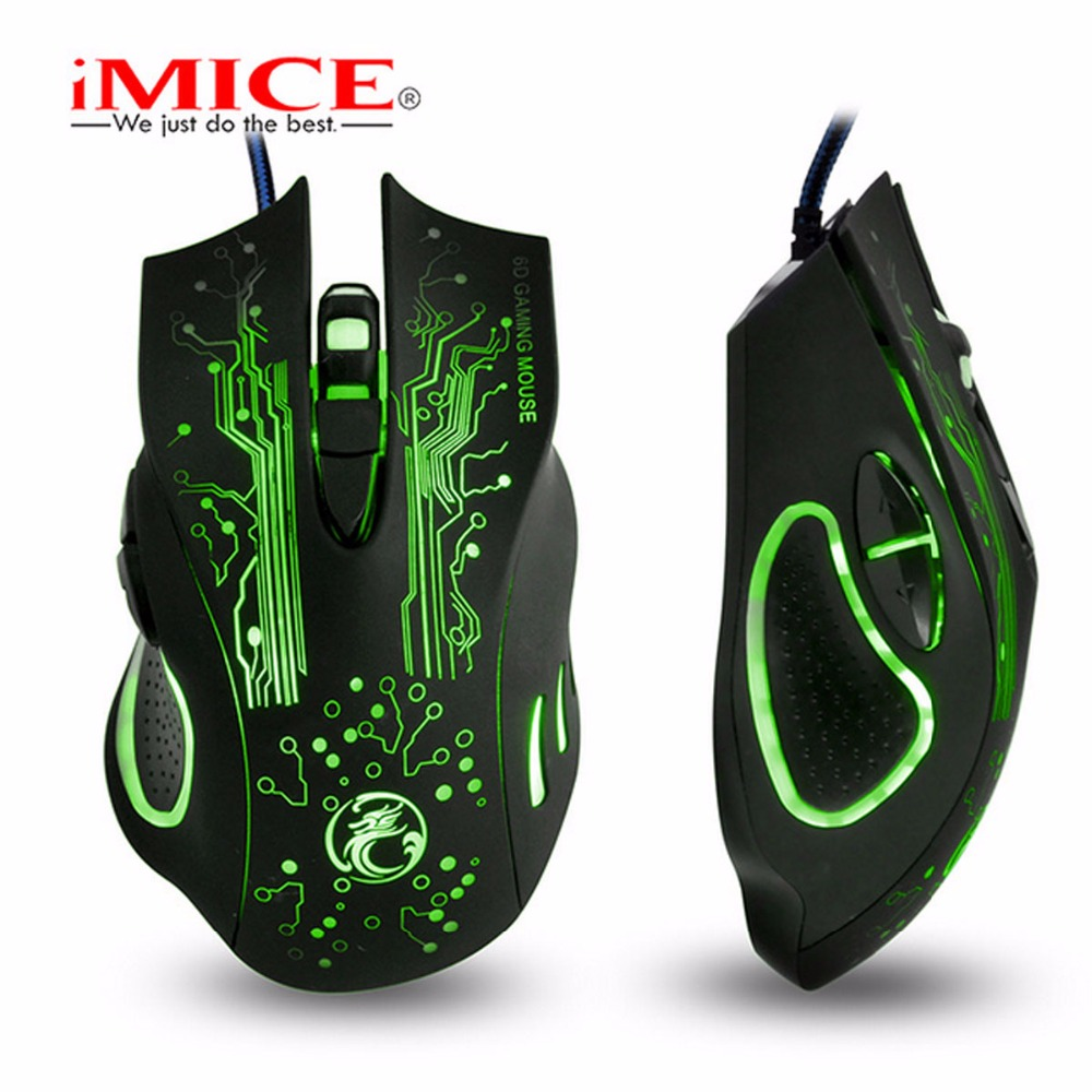 5000 Dpi Mute Optical Computer Game Muizen Silent Klik Bedrade Muis 6 Knoppen De High-end Spelers & Gaming Professionele Spelers