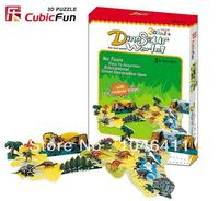 Dinosaur World CubicFun 3D Educational Puzzle Paper EPS Model Papercraft Home Adornment For Christmas Gift