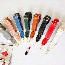130cm Shoulder Bag Strap PU Leather Belt Adjustable Wide Strap Bag Accessories For Women Crossbody Handbag Replacement Red цена и фото