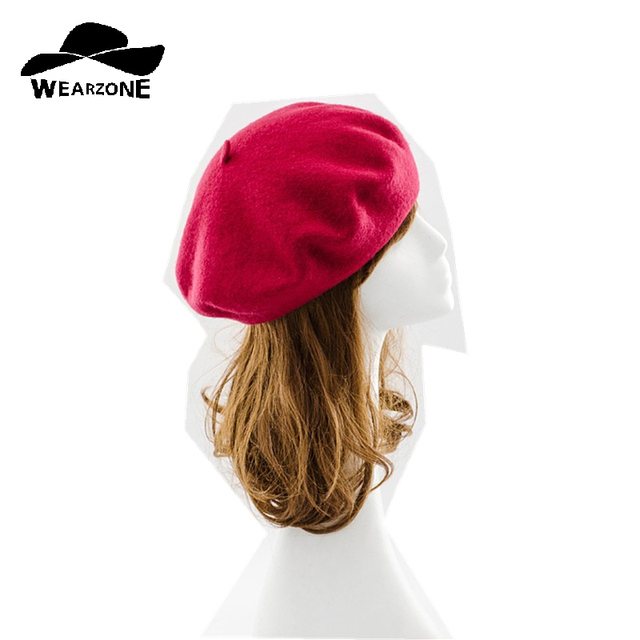 New Winter women hat Vintage Berets wool 32colors Caps pillbox hat gorras  planas hombre Hats Beret boinas mujer Wool Beanie Hat 664839a125b