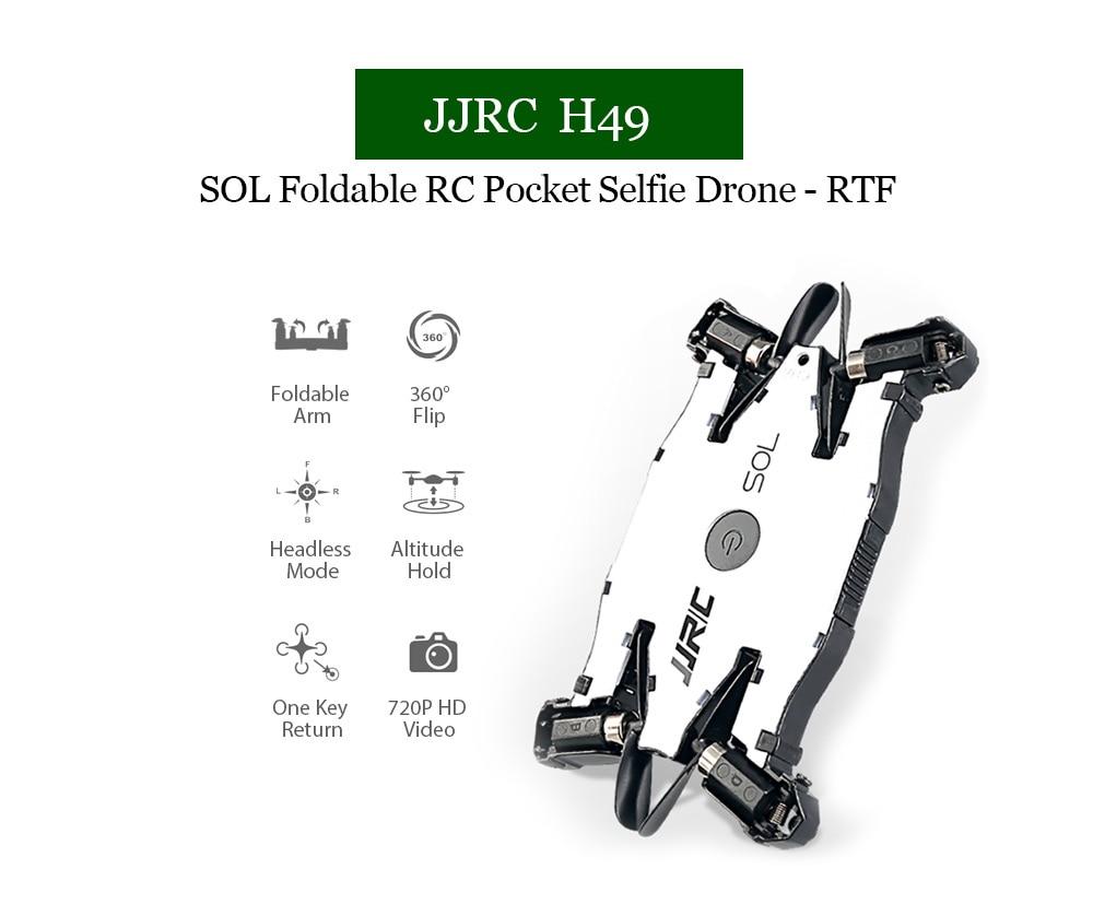 JJRC JJRC H49 RC Drone SOL Ultrathin Wifi FPV Selfie Drone (7)