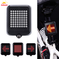 OOBEST 64 Led The Whole Intelligent Steering Brake Safety Riding Bicycle Taillights Night Light USB Charging
