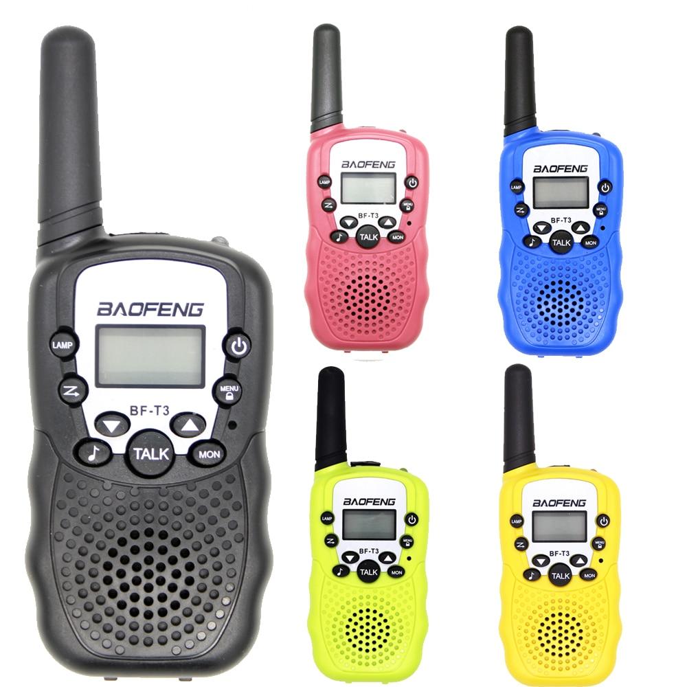 2PCS BaoFeng Mini  Walkie Talkie Children Kids Radio BF-T3 2W UHF462-467(MHz) Two Way Radio Portable Transceiver Radio Kids Gift