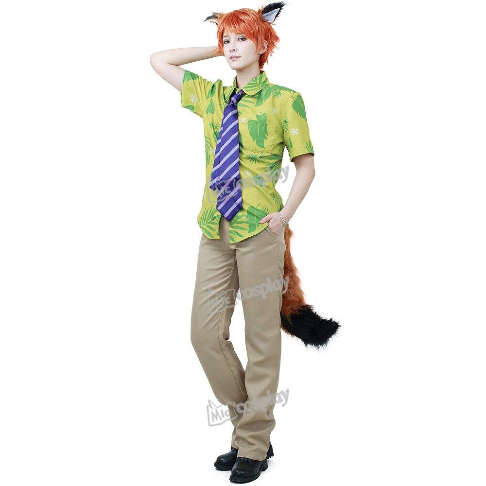 Renard Nick Wilde Cosplay Costume Halloween fête hommes tenue