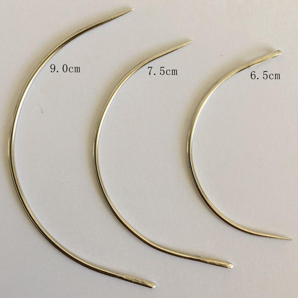 25 Pcs/bag Large 9cm C Shape Curved Needles Wig Making Crochet Braids Ventilating Hair Weaving Needle
